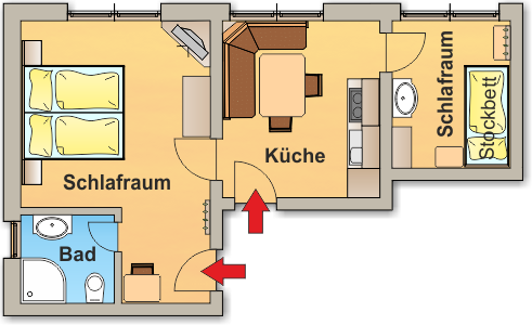 Skizze Apartment 2